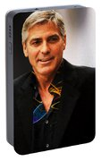 George Clooney Painting Portable Battery Charger