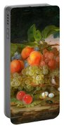 George Forster  Still Life With Fruit And A Birds Nest Portable Battery Charger