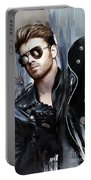 George Michael Singer Portable Battery Charger