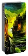 George Washington And Abraham Lincoln The Pirates Portable Battery Charger