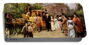 George Washington Arriving At Christ Church Portable Battery Charger