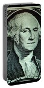 George Washington In Light Green Portable Battery Charger