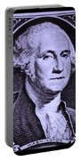 George Washington In Light Purple Portable Battery Charger
