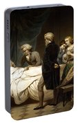 George Washington On His Deathbed Portable Battery Charger