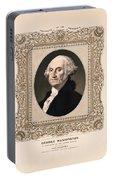 George Washington - Vintage Color Portrait Portable Battery Charger