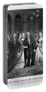 George Washington's Reception At White House - 1776  Portable Battery Charger