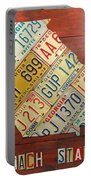 Georgia License Plate Map Portable Battery Charger by Design Turnpike