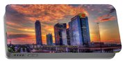 Georgia On My Mind Majestic Atlantic Station Midtown Atlanta Sunset Art Portable Battery Charger