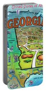 Georgia Usa Cartoon Map Portable Battery Charger