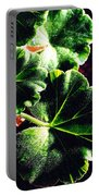 Geranium Leaves Portable Battery Charger