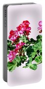 Geraniums In A Row Portable Battery Charger