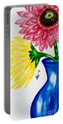Gerber Daisy Vase  Portable Battery Charger