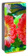 Gerbera Couple Portable Battery Charger