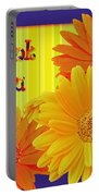 Gerbera Daisy Thank You Card Portable Battery Charger
