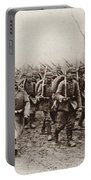 German And Austrian Soldiers Marching Portable Battery Charger
