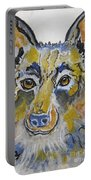 German Shepherd Painting Portable Battery Charger