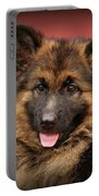 German Shepherd Puppy - Queena Portable Battery Charger
