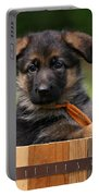 German Shepherd Puppy In Planter Portable Battery Charger