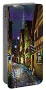 Germany Ulm Old Street Night Moon Portable Battery Charger
