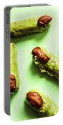 Ghastly Green Halloween Finger Food Portable Battery Charger