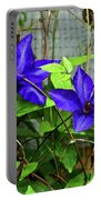 Giant Blue Clematis Portable Battery Charger