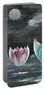 Giant Lilies Upon Misty Waters Portable Battery Charger