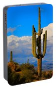 Giant Saguaro In The Southwest Desert  Portable Battery Charger