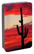 Giant Saguaro  Southwest Desert Sunset Portable Battery Charger