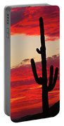 Giant Saguaro  Southwest Desert Sunset Portable Battery Charger