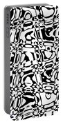 Gibberish Black And White Abstract Portable Battery Charger