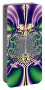 Gift Bows Fractal Abstract Portable Battery Charger