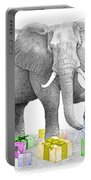Gift Wrapping Elephant Portable Battery Charger