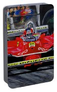Gilles Villeneuve At The Limit Portable Battery Charger