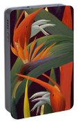 Ginger And Bird Of Paradise Portable Battery Charger
