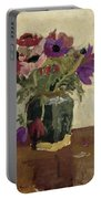 Ginger Pot With Anemones, George Hendrik Breitner, Ca. 1900 - Ca. 1923 Portable Battery Charger