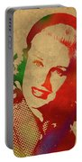 Ginger Rogers Watercolor Portrait Portable Battery Charger