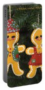 Gingerbread Christmas Ornaments Portable Battery Charger