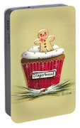 Gingerbread Cookie Cupcake Portable Battery Charger
