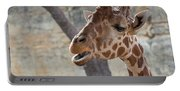 Girafe Head About To Grab Food Portable Battery Charger