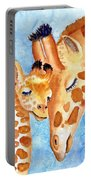 Giraffe Baby And Mother Portable Battery Charger