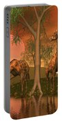Giraffe Family By John Junek Portable Battery Charger