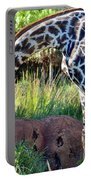 Giraffe Feasting Portable Battery Charger