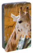 Giraffe In The Zoo. Portable Battery Charger