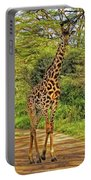 Giraffe On The Trail Portable Battery Charger