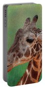 Giraffe Square Painted Portable Battery Charger