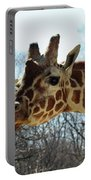 Giraffe Stretching For A View Portable Battery Charger