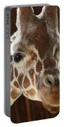 Giraffe Taking A Peek Portable Battery Charger