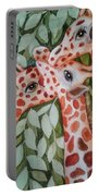 Giraffe Trio By Christine Lites Portable Battery Charger by Allen Sheffield