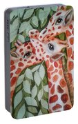 Giraffe Trio By Christine Lites Portable Battery Charger