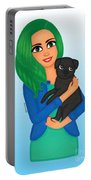 Girl And Dog Pet Portable Battery Charger